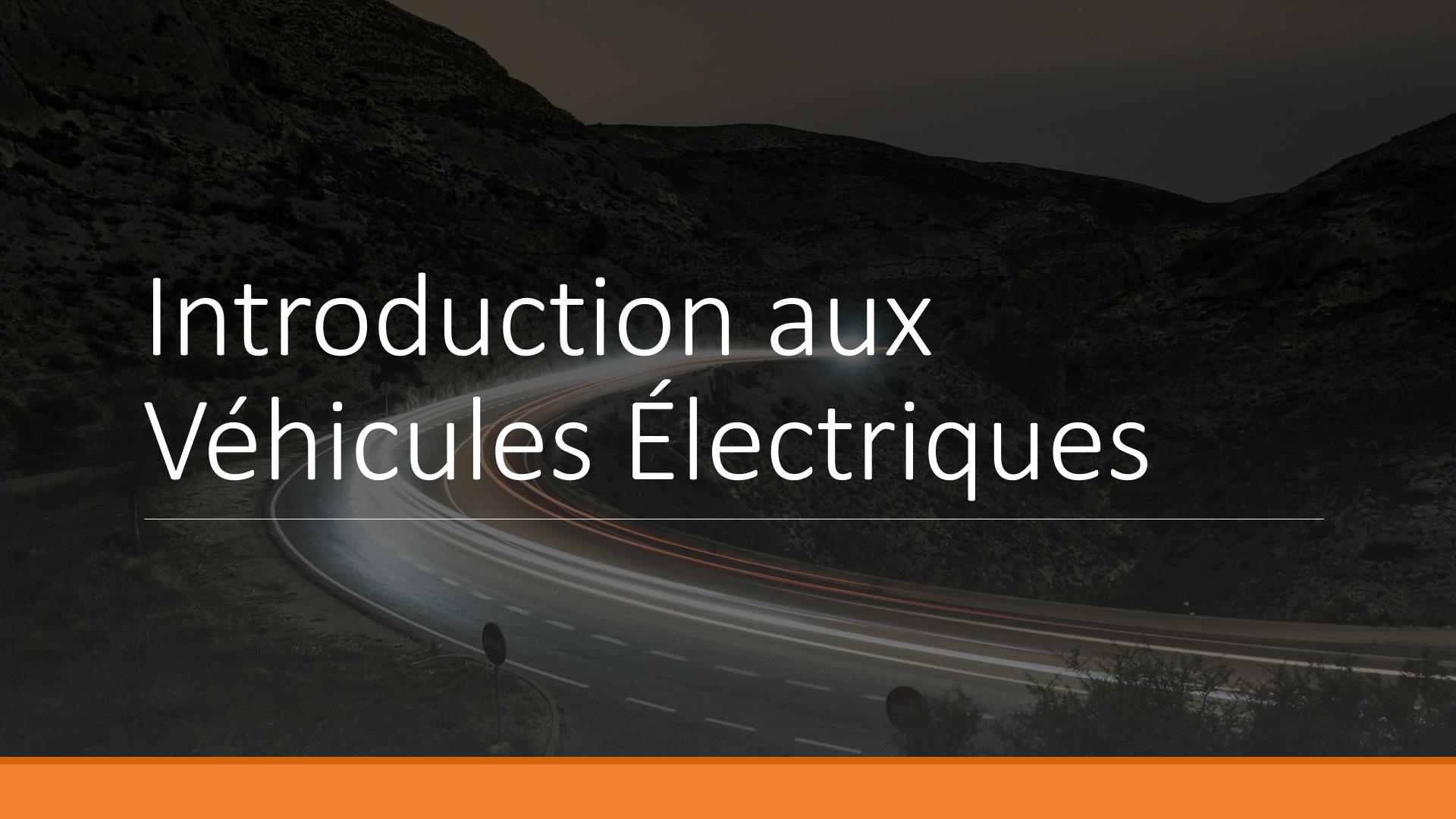 Intro véhicules électriques